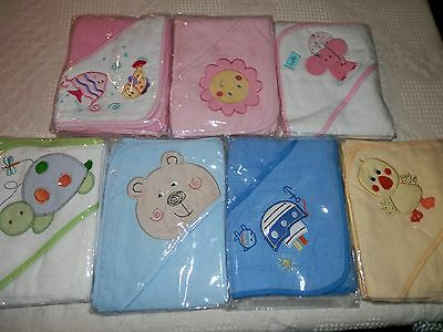 Baby Hooded Terry Towelling Bath Towel Approx 75Cm X 75Cm