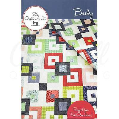 Bailey Quilt Pattern by She Quilts A Lot Quilting Sewing Patchwork