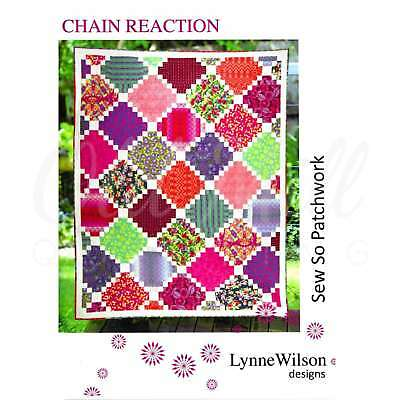 Chain Reaction Quilt Pattern by Lynne Wilson Designs Quilting Sewing