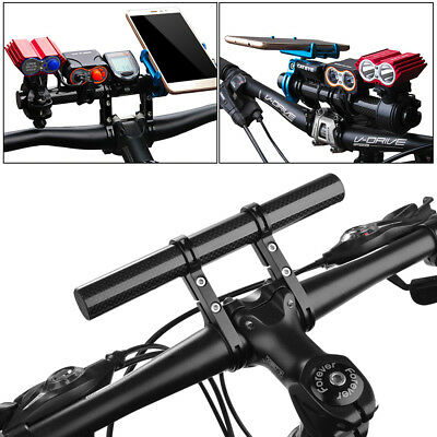 Bicycle Bike Handle Bar Extension Bracket Mount Phone Holder for Light Stopwatch