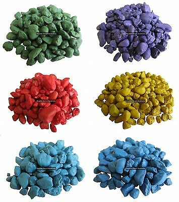 Coloured Gravel 5kg painted aquarium fish tank reptile substrate stone decorativ