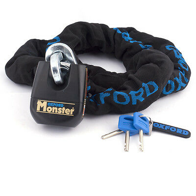 Oxford OF802 Monster Motorcycle Lock & Chain 1.5 M Thatcham Gold Secure Approved