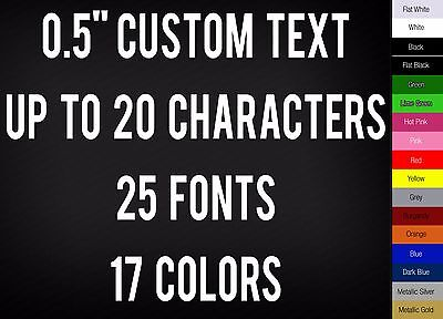 """0.5"""" CUSTOM VINYL LETTERING / TEXT - Personalized Wall Window Car Sticker Decal"""