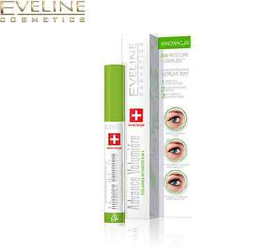 Eveline 3in1 Advance Volumiere Eyelashes Concentrated Serum Mascara Primer 10ml