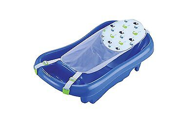 The First Years Sure Comfort Deluxe Newborn To Toddler Tub Blue Baby bath Shower