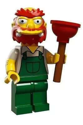 LEGO minifigure Series 2 The SimpsonsGroundskeeper Willie - New - Complete