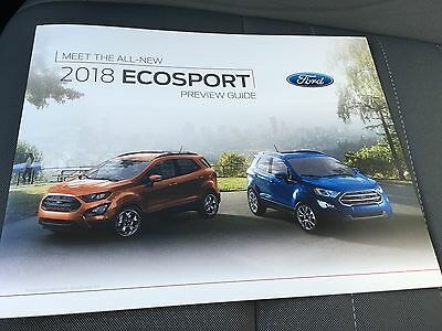 2018 Ford ECOSPORT 4-page Preview GUIDE Original Sales Brochure