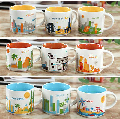 New Starbucks Coffee Mug Global Idol You Are Here City Collector Series Mugs Cup