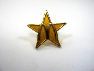 Vintage Collectible Pin: McDonald's Star Gold Tone Design