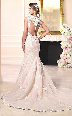 Mermaid White/Ivory Lace Wedding Dress Bridal Gown Size: 4 6 8 10 12 14 16