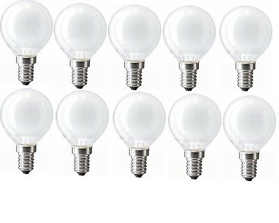 10x PHILIPS Classic Glühbirne Kugel E14 60W Frosted White 650lm Dimmbar 1000h F