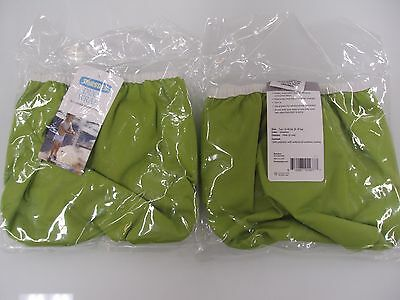 LOT OF TWO Thirsties Duo Wrap Size Two 18-40lbs Meadow Hook & Loop Diaper Cover