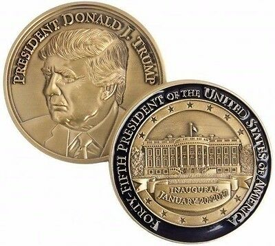 Official Bronze 2017 Inaugural  Challenge Coin - Medal - President Donald Trump