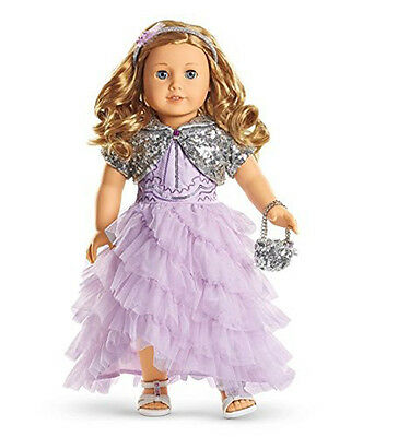 """American Girl TRULY ME FROSTED VIOLET GOWN for 18"""" Doll Holiday Outfit"""