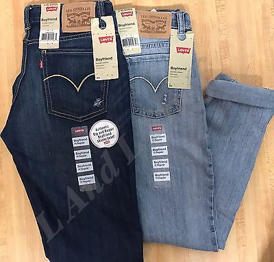 Levi's Boyfriend Jeans Stretch With Adjustable Waistband Girls Variety NEW
