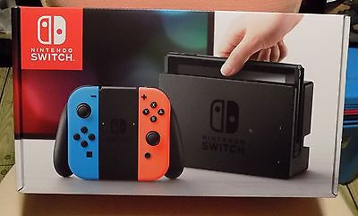 Nintendo Switch 32GB Gray Console w/Neon Red/Blue Joy-Con Brand New!!! IN HAND!!