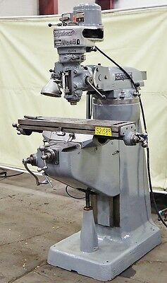 "BRIDGEPORT 1 HP 9"" x 36"" Vertical Milling Machine"