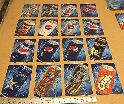 Soda vending machine flavor strip labels signs - qty 12 for 1 price