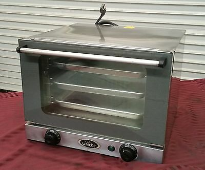 Cadco OV-250 Mini Counter Top Electric Convection Oven 2669 Unox 1/4 Sheet XA006