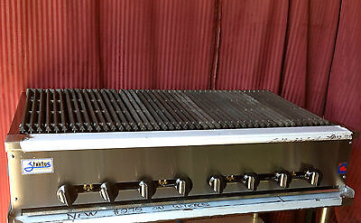 "NEW 48"" Radiant Charbroiler Gas Grill 8 Burner Stratus SRB-48 Commercial #1231"