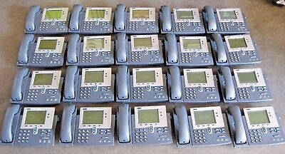 LOT OF 20 CISCO CP-7940G IP VoIP OFFICE BUSINESS PHONES WITH STANDS AND HANDSETS