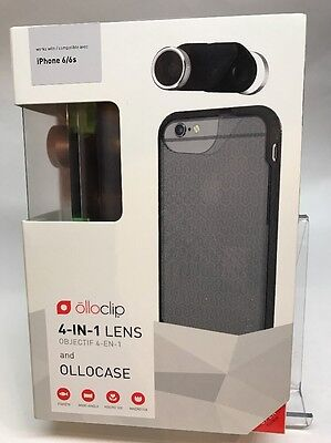 Olloclip 4 in 1 lenses and Case Set for iPhone 6/6s (Black)