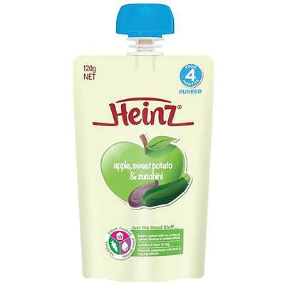 Heinz Apple Sweet Potato & Zucchini Puree Pouch 120G From 4 Months + Baby Food