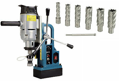 """Steel Dragon Tools® MD45 Magnetic Drill Press with 7PC 2"""" HSS Cutter Kit"""