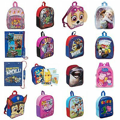 Childrens Character Backpack Back To School Disney Marvel Boys Girls Paw Patrol