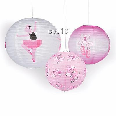 3 Ballet...Ballerina Lanterns Party Lanterns