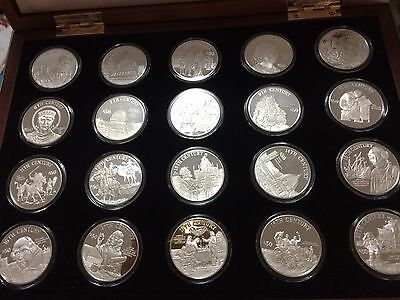 1997 Cook Islands Millennia Collection 20 x $50 Silver Proof Coins, 92.5%