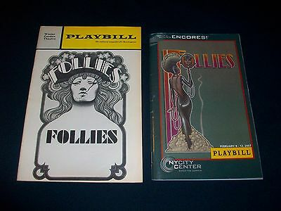 Vintage Playbill - FOLLIES - 2 PLAYBILLS - SONDHEIM - TICKET STUB - RARE