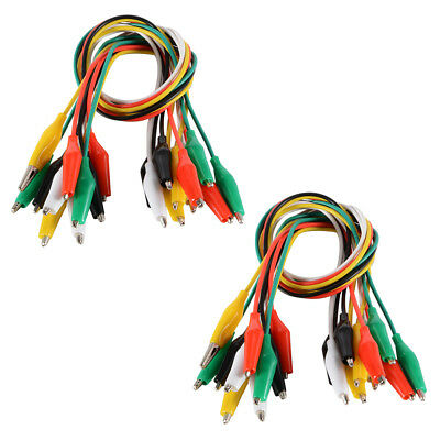 20pcs Jumper Wire Cable Alligator Crocodile Clips Electrical Test Lead TE695