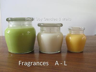 HIGHLY SCENTED 100% NATURAL SOY WAX CANDLE 35|55|100 Hours Burn Time Hand Poured