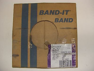 """Band-It Stainless Steel Banding C127 C12799 316 SS 3/8"""" 200' Feet UIC 13127"""