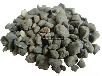 Natural Black Gravel 7mm 5kg aquarium substrate reptile enclosure pond pebbles