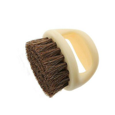 MAIN Shoe Shine Buffing Brush 100% Horse Hair Wood Handle Pro Quality