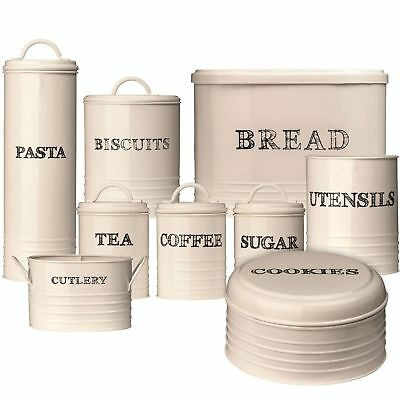 Sketch Tea, Coffee & Sugar Bread Bin Biscuit Utensil Biscuit Pasta Canister Jars