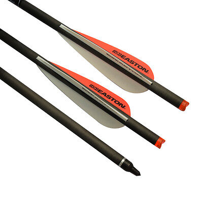 20 inch Easton Vane Crossbow Bolts Carbon Arrows Archery Power Hunting Outdoor