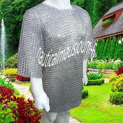 Chainmail Large Size Flat Rivet With Flat Washer Half Sleeve Hubergion Zinc