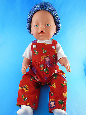 """Baby Born Zapf Creation 17"""" Doll Drinks Wets Light Skin Blue Eye + 2 outfits"""