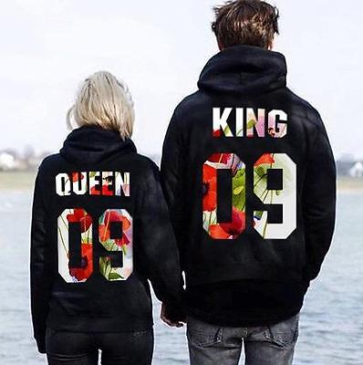 Roi et Reine Couples Sweat-shirt Couples vêtements matching hoodie King et Queen