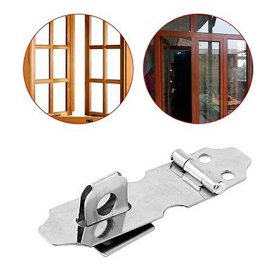 4 Set of Home Drawer Door Stainless Steel Safety Padlock Latch Hasp Staple NO.5