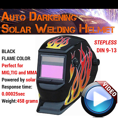 MIG ARC TIG Welding Helmet Auto Darkening Solar Power Welders Mask Grinding Mode