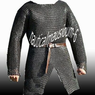 Flat Rivet With Flat Washer Chainmail large Size Full Sleeve Hubergion Black