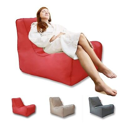 Bean Bag Lounge Chair Beanbag Cover Water Resistant Sofa Seat Lounge Bed - Red