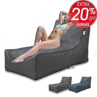 Bean Bag Lounge BeanBag Cover Indoor Outdoor Sofa Chair Seat Bed Couch Charcoal