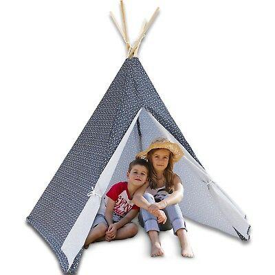 Large Kids Teepee Tent Tipi Children Home Outdoor Indoor Canvas Pretend Play