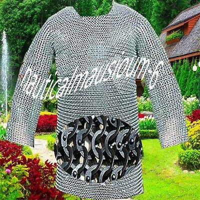 Flat Rivet With Flat Washer Chainmail Large Size Full Sleeve Hubergion Zinc