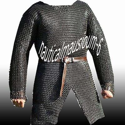 Chainmail Size Full Sleeve Hubergion Black Flat Rivet With Flat Washer